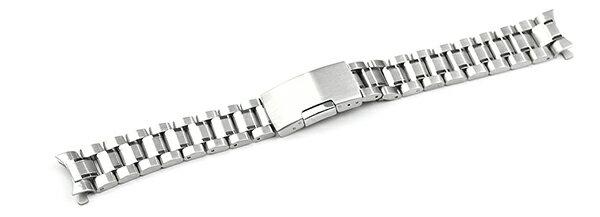 腕時計 ステンレス ベルト 16mm 17mm 18mm 19mm 20mm 21mm 22mm 23mm 24mm シルバー 弓カン サイドプッシュ式バックル ys-s 腕時計 ベルト 交換