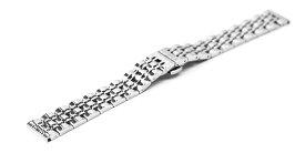 腕時計 ステンレス Dバックル ベルト 14mm 15mm 16mm 17mm 18mm 19mm 20mm 21mm 22mm 23mm 24mm シルバー ポリッシュ仕上げ プッシュ式 Dバックル dc-c-sv 腕時計 バンド 交換