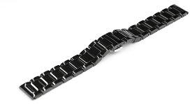 腕時計 ベルト 18mm 20mm 21mm 22mm 23mm 24mm ステンレス ポリッシュ 仕上げ 黒 ブラック プッシュ式 Dバックル dc-a-bk 腕時計 バンド 交換