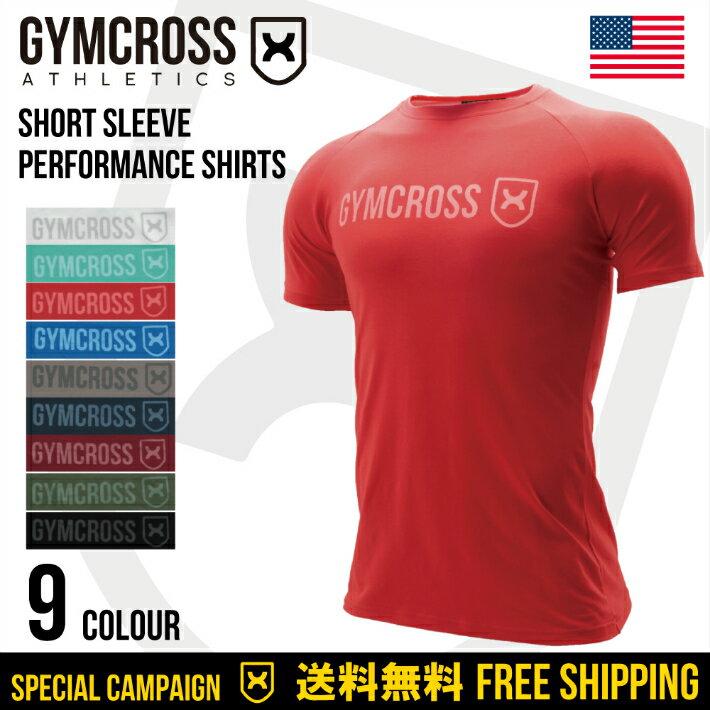 ●SALE●GYMCROSS ストレッチ パフォーマンス Tシャツ ラグランスリーブ 半袖 [メンズ] トレーニングウェア フィットネスウェア gc-040 Stretch performance shirt Short sleeve USA