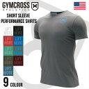●送料無料●GYMCROSS ストレッチ パフォーマンス Tシャツ 半袖 [メンズ] トレーニングウェア フィットネスウェア gc-…