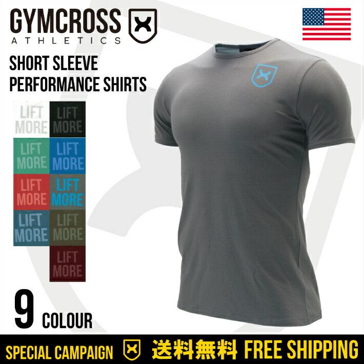 ●SALE●GYMCROSS ストレッチ パフォーマンス Tシャツ 半袖 [メンズ] トレーニングウェア フィットネスウェア gc-043 Stretch performance shirt Short sleeve USA