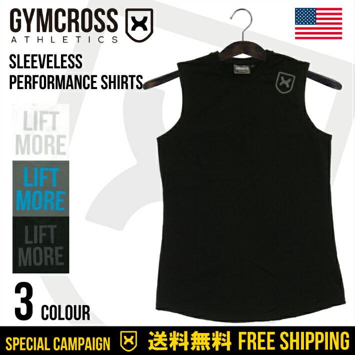 ●SALE●GYMCROSS ストレッチ パフォーマンス シャツ ノースリーブ [メンズ] トレーニングウェア フィットネスウェア gc-050 Stretch performance shirt Sleeveless USA