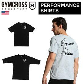 【送料無料】 GYMCROSS (ジムクロス)【PERFORMANCE】トレーニング フィットネスウェア Tシャツ 5分袖 7分袖ストレッチ【メンズ】gc-059
