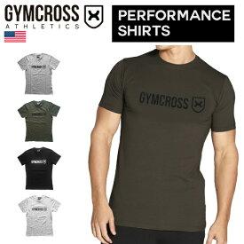 【送料無料】 GYMCROSS (ジムクロス)【PERFORMANCE】トレーニング フィットネスウェア Tシャツ 半袖 ストレッチ【メンズ】gc-069