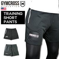 GYMCROSS(ジムクロス)ショートパンツハーフパンツメッシュ速乾トレーニングフィットネスウェア【メンズ】gc-079