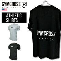 GYMCROSSジムクロストレーニングフィットネスウェアプリント半袖Tシャツメンズgc-084