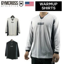 GYMCROSS ウォームアップシャツ トレーニング フィットネスウェア プリント長袖 ランニング ジョギング【メンズ】ml-004