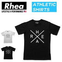 Rhea(レアー)トレーニングウェアフィットネスストリートワークアウトTシャツ半袖ストレッチ【メンズ】rh-003