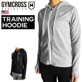 GYMCROSS (ジムクロス)トレーニング フィットネスウェア ロングスリーブフーディー パーカー スウェット アスレティックフィット ストレッチ【レディース】wgc-002
