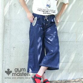 gym master(ジムマスター) G743337 デニム ガウチョパンツ パンツ レディース