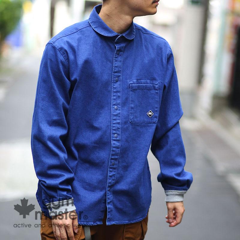 gym master(ジムマスター) G143624 ストレッチデニムスナップシャツジャケット