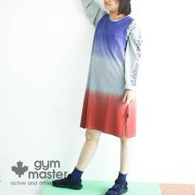 gym master(ジムマスター)公式 グラデーション鹿の子ワンピース|レディース|ワンピース|鹿の子|グラデーション|カラフル|ノースリーブ|胸ポケ付き|G257619
