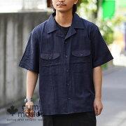 gymmaster(ジムマスター)G843339ストレッチヘリンボーンスナップシャツジャケット