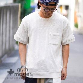 gym master(ジムマスター)公式 ローゲージ鹿の子Teeクルーネック|Tシャツ|メンズ|メンズ| レディース|無地|半袖|トップス|カジュアル|ブランド|ワッフル|柔らか|海外発送|G433685