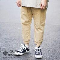 gymmaster(ジムマスター)公式ストレッチヘリンボーンクロップドパンツパンツ|クロップドパンツ|裾リブ|パンツ|メンズ|レディース|ユニセックス|コットン|ジョガー|作業着|G418641