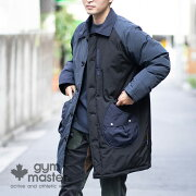 gymmaster(ジムマスター)ドロップポケットナイロンコート|メンズ|レディース|中綿|防寒|防風|ロングコート|G557684