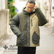 gymmaster(ジムマスター)公式ドロップポケットナイロンマンパー|ナイロン|メンズ|レディース|マウンテンパーカー|中綿|マンパー|フードG557685