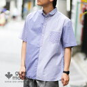 gym master(ジムマスター)公式 2WAY半袖プルオーバーシャツ|メンズ|レディース|ユニセックス|半袖シャツ|クレイジー|白シャツ|ス…