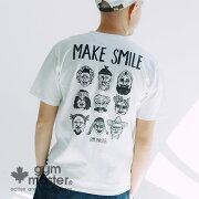 gymmaster(ジムマスター)公式MAKESMILETEEtシャツ|吸収速乾|汗染み軽減|防臭加工|半袖|メンズ|レディース|カジュアル|ブランド|ストリート|綿100%|ドライ|おしゃれ|バックプリント|短袖|G433602