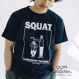 gym master(ジムマスター)公式 SQUAT TEE|レディースメンズ|レディース|ユニセックス|ガイコツ|スカル|トップス|春夏|カジュアル|覆面レスラー|部屋着|ポップ|トレーニング|筋トレ|ストレッチ|海外発送|G480675