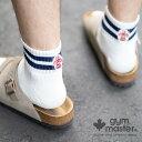 gym master(ジムマスター) ハッピー刺繍ラインソックス靴下|ショートソックス|ユニセックス|覆面レスラー|アスリート|ボーダー|…