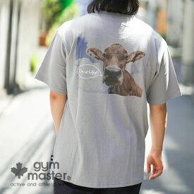 gym master(ジムマスター)公式COW TEE消臭|エコ|防臭加工|半袖|肌に優しい|tシャツ|メンズ|レディース|カジュアル|ストリート|刺繍|牛|綿100%|短袖|海外発送|G433680