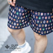 gymmaster(ジムマスター)公式ハッピーペイントショーツ|メンズ|レディース|カジュアル|ポリエステル|撥水|速乾|短パン|半ズボン|アウトドア|総柄|おしゃれ|覆面レスラー|ルアー|釣り|ラクダ|ヒョウ|G433616