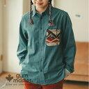 gym master(ジムマスター)公式 ジャガードポケットコーデュロイシャツジムマスター|シャツ|無地|カジュアル おしゃれ かっこいい…