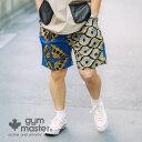 gym master(ジムマスター)公式 アフリカン柄ショートパンツメンズ レディース ユニセックス クロップドパンツ パンツ 半ズボン シ…