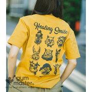 gymmaster(ジムマスター)公式7.2ozHealingSmileTeetシャツ|半袖|メンズ|レディース|ドライ|防臭|抗菌|汗じみ防止|カジュアル|大きいサイズ|ブランド|夏|アニマル|ヴィンテージおしゃれ|綿100%|短袖T恤|G633652