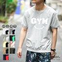 gym master(ジムマスター) G702301-P3 ペーストプリントGYMスマイル|tシャツ|半袖|メンズ|レディース|ユニセックス|