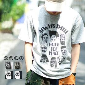 gym master(ジムマスター) G999333-P EIGHT SMILE Tee|tシャツ|半袖|メンズ|レディース