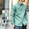 gymmaster(ジムマスター)G102658カラフルスナップボタン2WAY綿麻シャツ