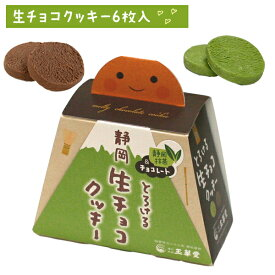 静岡とろける生チョコクッキー6枚入(抹茶、チョコ)【2020 クッキー 富士山 スイーツ 静岡 お土産 チョコ チョコレート】