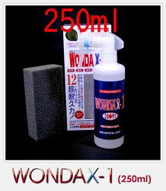 WONDAX-1/250ml ワンダックス ガラス質ボディ保護剤 これ一本でガラスコート!【新車やそれに近い車用】※大型車/1BOX1.5台分 wandax