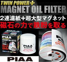 【2連濾紙+超大型マグネット】磁力で鉄粉除去! PIAA ツインパワーマグネットオイルフィルター Z2-M【特JF】