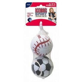 コングスポーツボール L 大型犬用 【色と柄はアソート】野球ボール、サッカーボール、バスケットボールの3種類から2個を1セットにして販売となります事予めご了承くださいませ