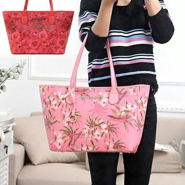 【送料無料】VICTORIA'S SECRET ヴィクトリアシークレット ビクシー トートバッグ 花柄 大きめ バッグ ピンク