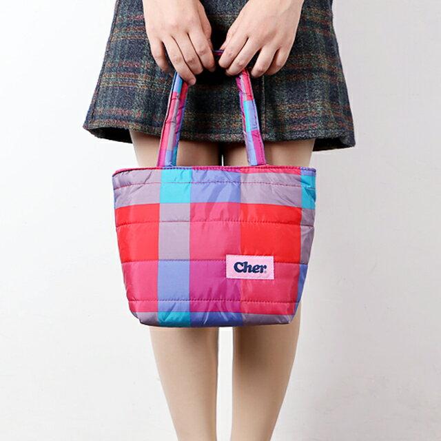 【クリアランス!】Cher シェル トートバッグ サブバッグ ロゴ バッグ ふわふわ クッション性あり