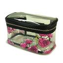 【送料無料】VICTORIA'S SECRET ヴィクトリアシークレット ビクシー バニティケース 化粧ボックス 透明花柄 ピンク