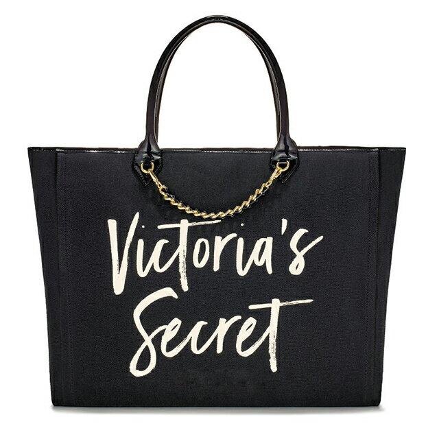 【送料無料】VICTORIA'S SECRET ヴィクトリアシークレット ビクシー トートバッグ 大きめ サブバッグ ブラック 2017新商品