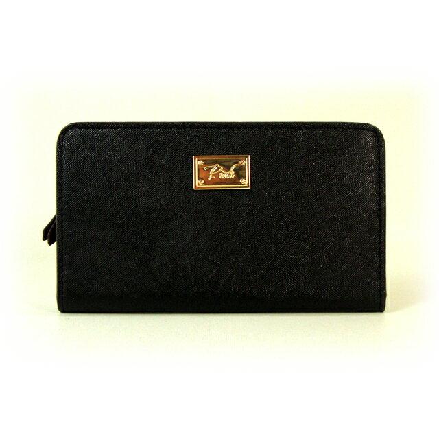 【送料無料】VICTORIA'S SECRET PINK ヴィクトリアシークレット ピンク Wallet VS Pink ウォレット 長財布 カードケース レザー ブラック