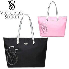 【送料無料】ヴィクトリアシークレット VICTORIA'S SECRET トートバッグ ハンドバッグ 大きめ スパンコールロゴ ブラック ピンク