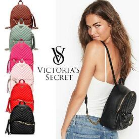 【送料無料】ヴィクトリアシークレット リュック VICTORIA'S SECRET ビクトリア Vキルト スモールバックパック ブラック レッド ピンク ライトピンク
