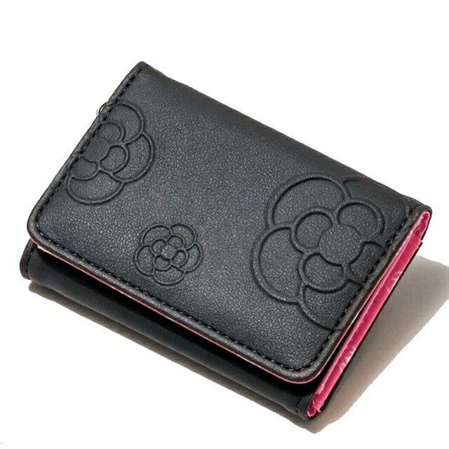クレイサス 三つ折り財布 CLATHAS レディース ミニ財布 ブラック
