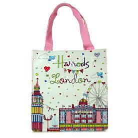 【送料無料】HARRODS ハロッズ 正規品 トートバッグ バック Sサイズ ショッピングバッグ