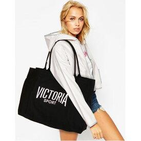 【送料無料】VICTORIA SPORT Victoria's Secret ヴィクトリアスポーツ ビクシー バッグ トートバッグ ママバッグ 大きめ ジムバッグ キャンバス地 ブラック