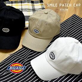 ディッキーズ スマイルパッチ キャップ レディース メンズ ホワイト ベージュ ブラック 帽子