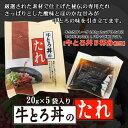 牛とろ丼のたれ 20g×5袋(丼5杯分) 十勝スロウフード お取り寄せ 北海道